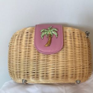 Handbags - Lilly Pulitzer inspired Palm Tree Clutch